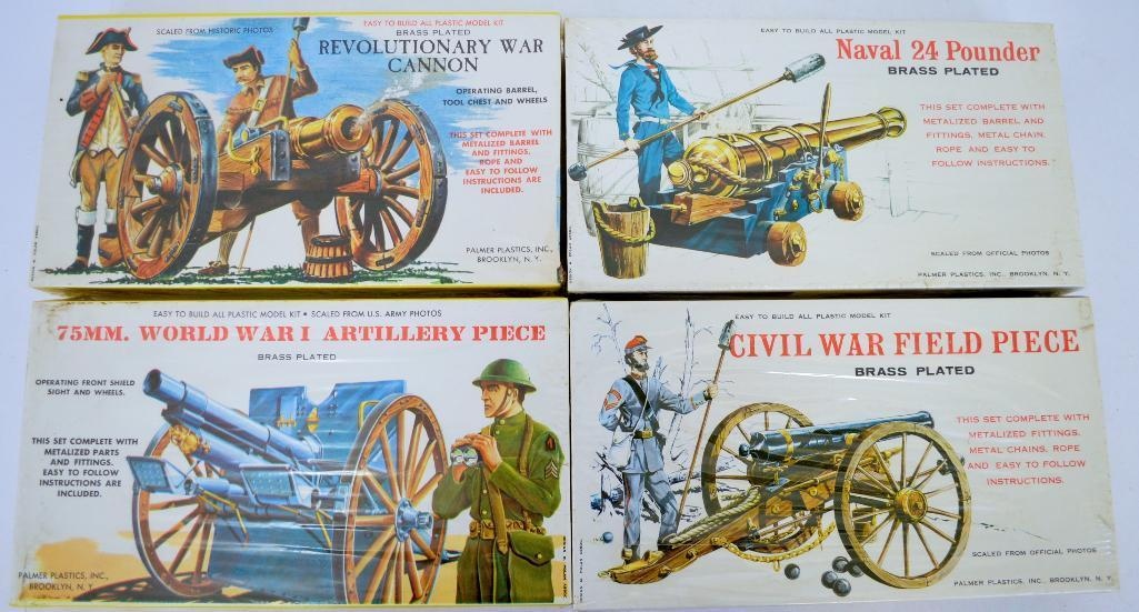 Four factory sealed Palmer cannon plastic model kits | Toys