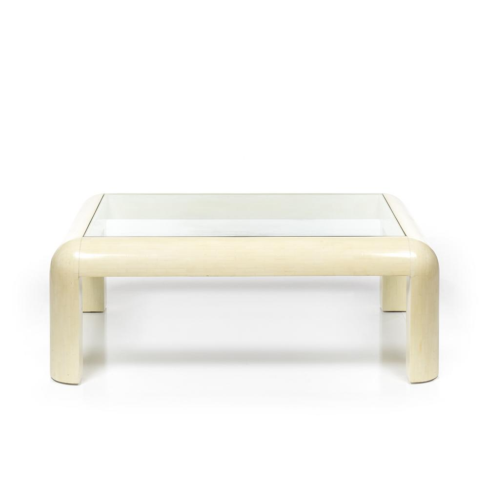 Steve Mcqueen Tesated Stone Coffee Table