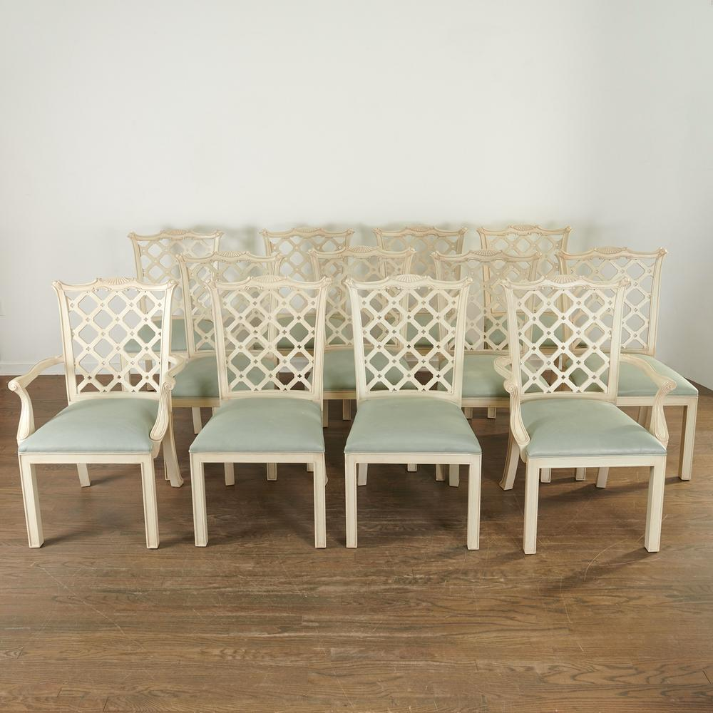 Set 12 Chinese Chippendale Style Dining Chairs Lofty Marketplace
