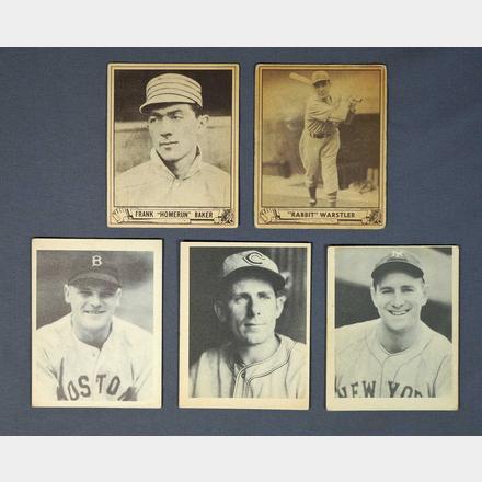 1939 1940 Play Ball Baseball Cards Grant Zahajko Auctions