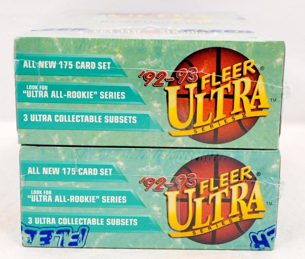 Two 1992 93 Fleer Ultra Series 2 Basketball Sealed Wax Boxes Lofty Marketplace