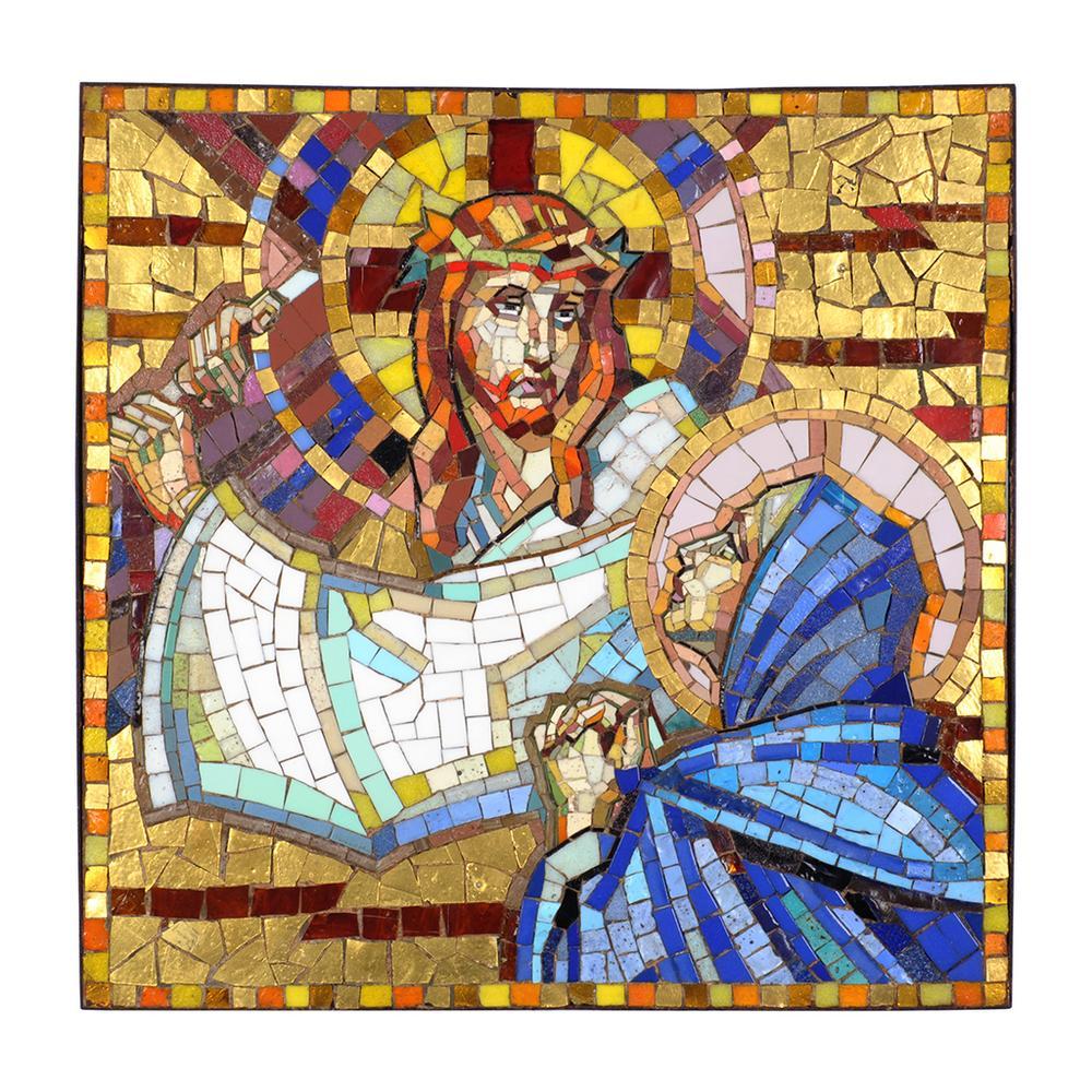Mosaico. Fabricado en Venecia, Italia. Siglo XX. Cuarta estación del ...