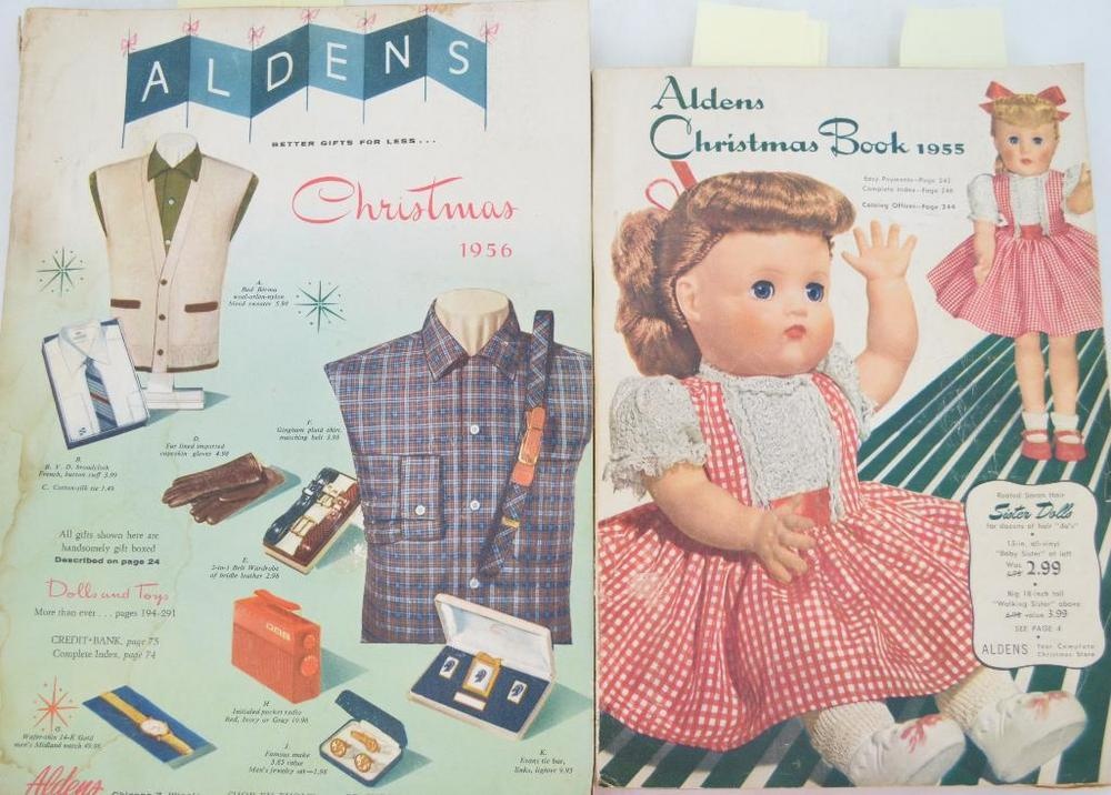 Christmas Mail Order Catalog.1955 1956 Aldens Mail Order Christmas Catalogs With Vintage Toy Section