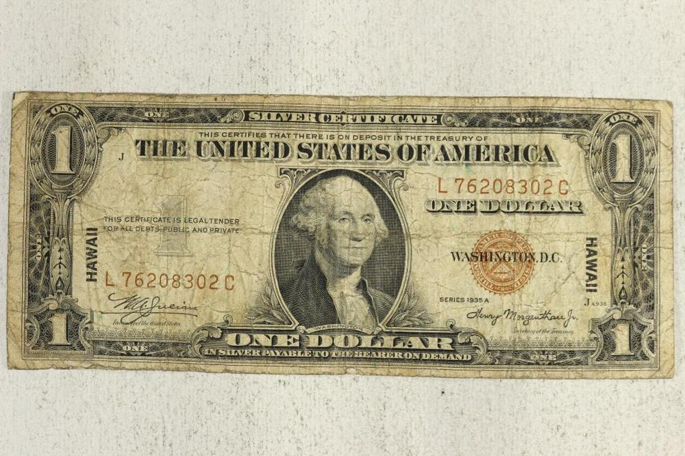 1935-A $1 SILVER CERTIFICATE HAWAIIAN OVERPRINT – Lofty Marketplace