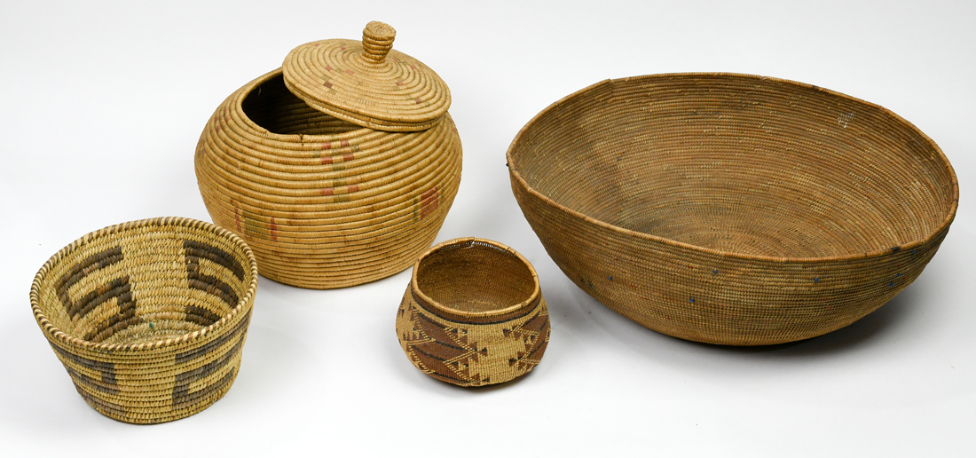 Native American basketry group