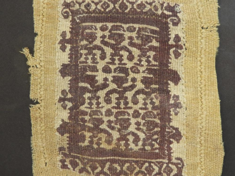 Ancient Egyptian Dancing Figures Coptic Textile