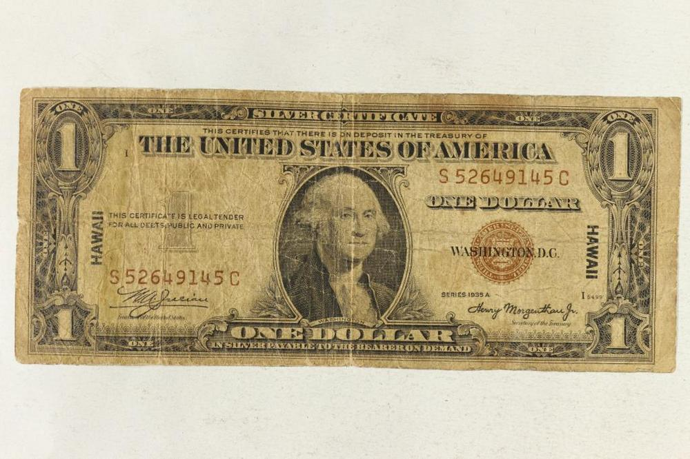 1935 A 1 Silver Certificate Hawaiian Overprint Lofty Marketplace