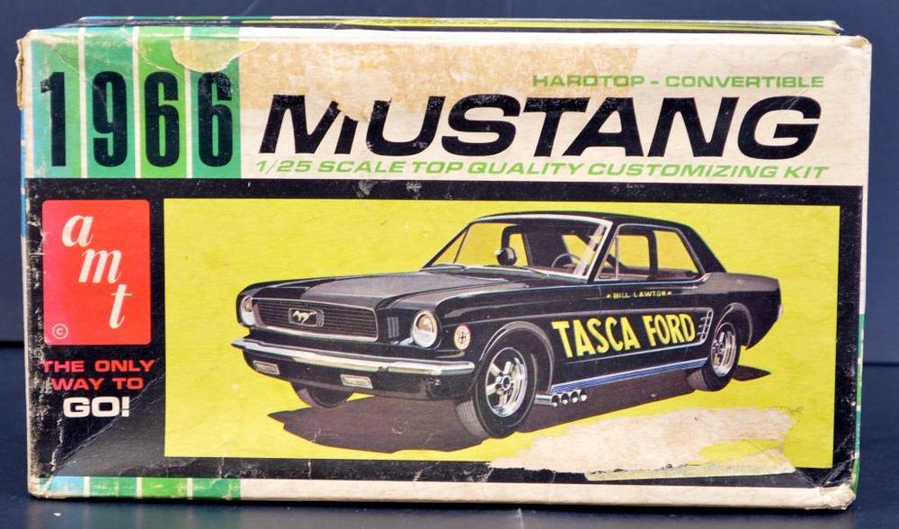 Built up AMT 1966 Ford Mustang 1/25 scale model kit 6159