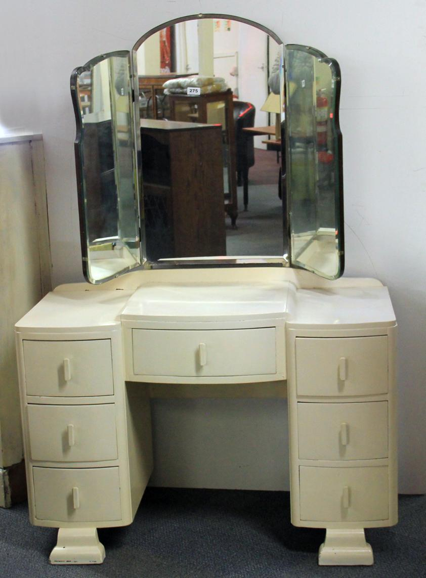 A Painted Art Deco Dressing Table.