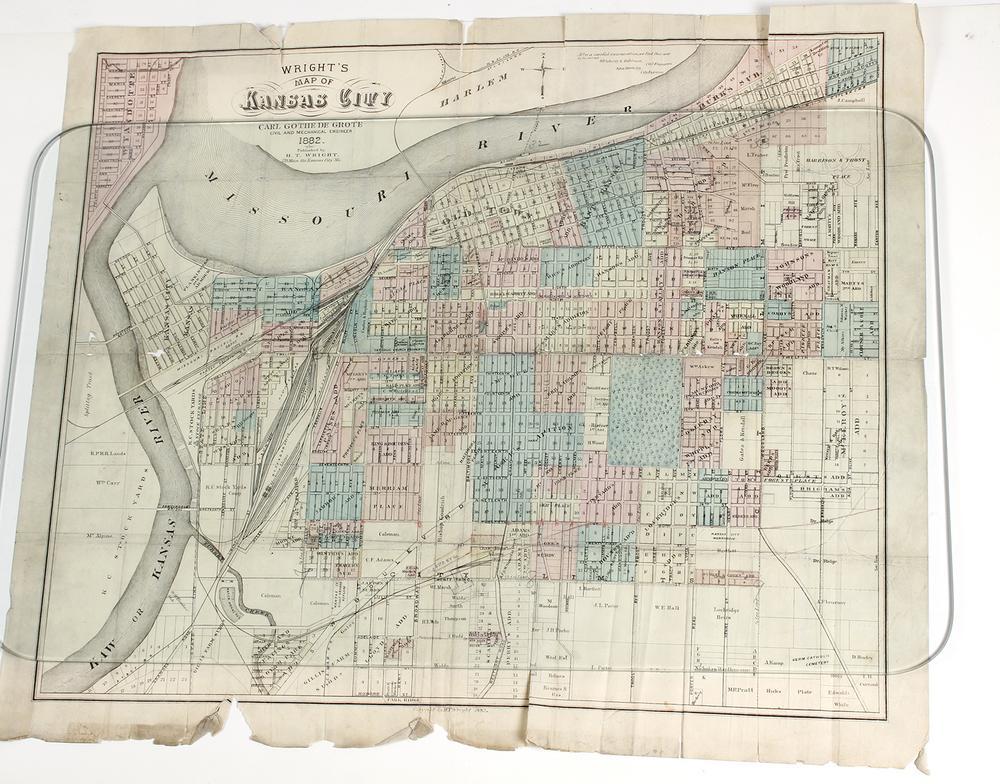 Wright\'s Printed Folded map of Kansas City – Lofty Marketplace