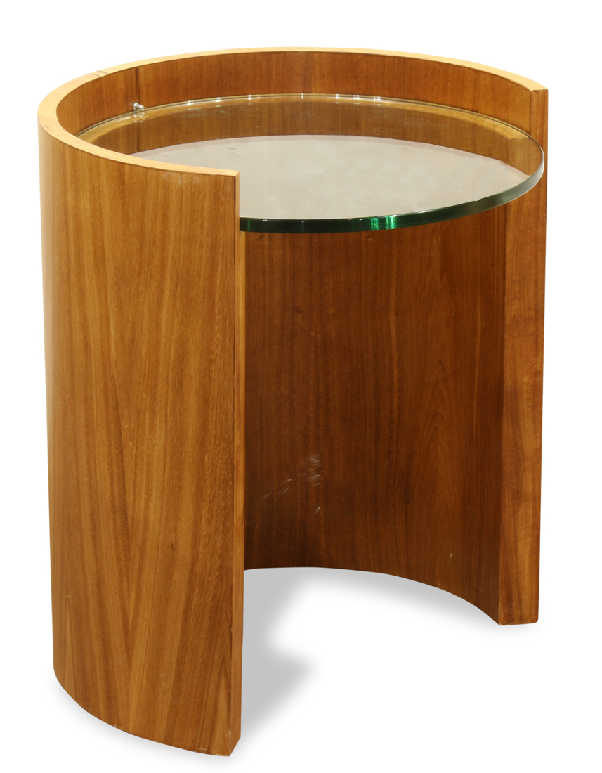 Modern demilune occasional table