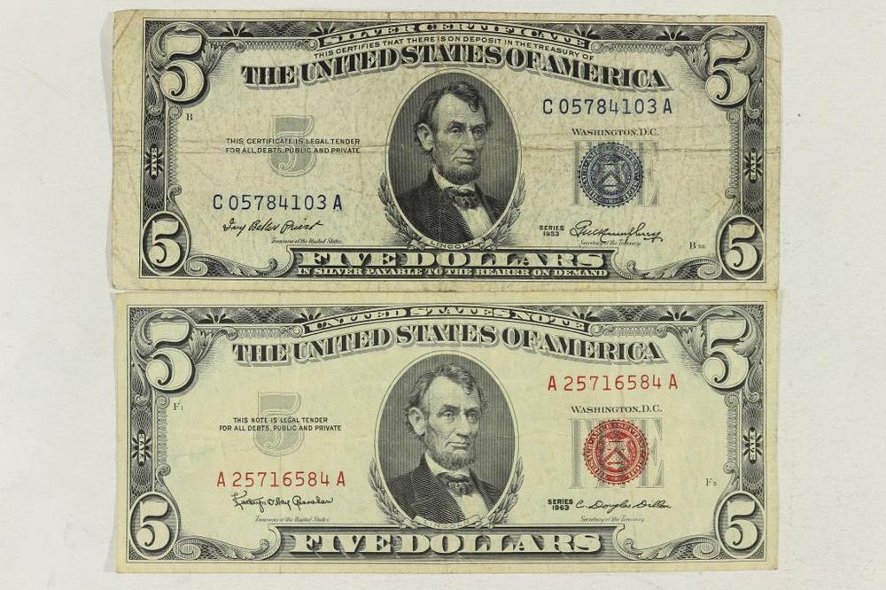 1953 5 Silver Certificate 1963 5 Us Note Lofty Marketplace