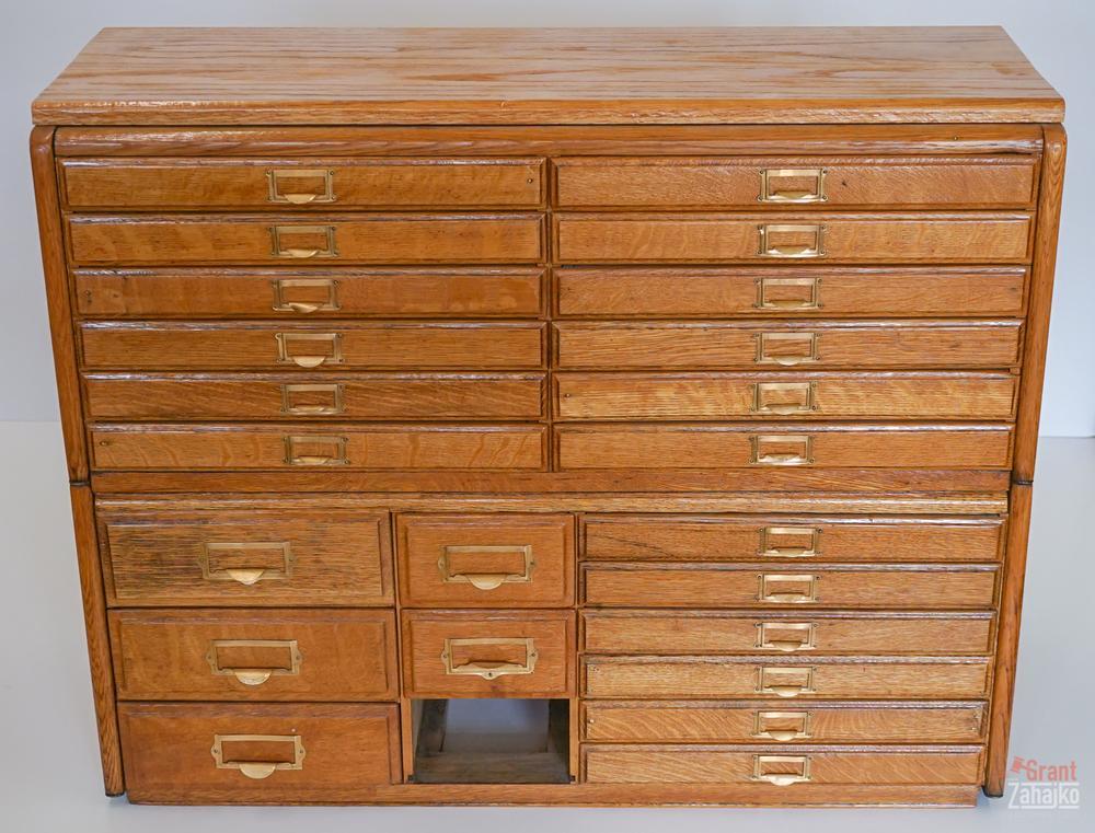 Twenty Four Drawer Multi Cabinet, Wooden Multi Drawer Cabinet