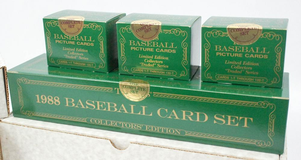Six 1988 Topps Tiffany Baseball Sets Traded