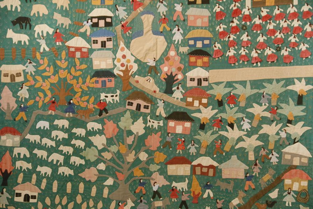 VINTAGE PERUVIAN FOLK ART WALL HANGING | Thomaston Place Auction ...