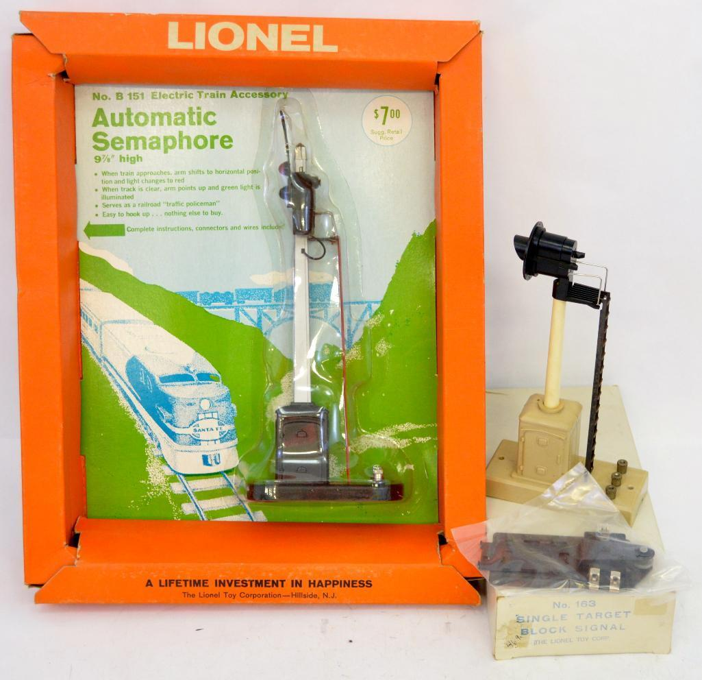 Wiring Lionel Block Signal Diagrams Schematics Postwar O Gauge B1514 Semaphore And 163 In