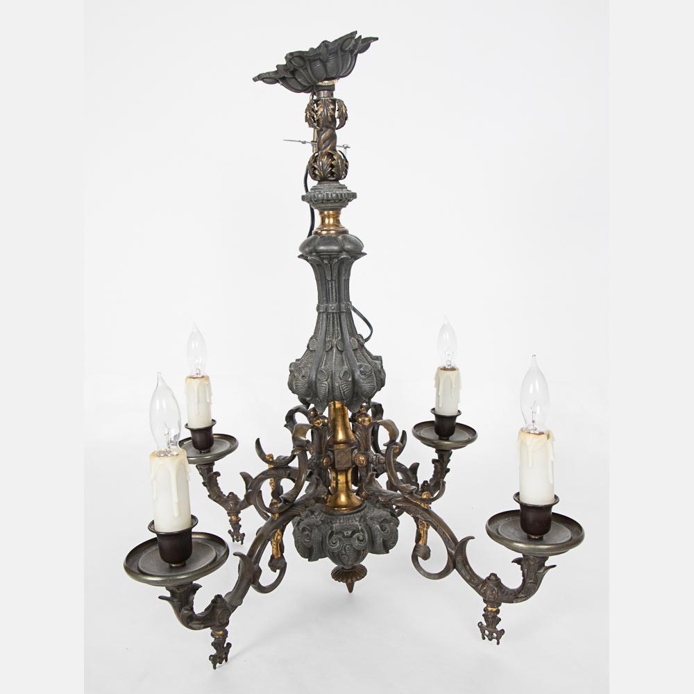 Electrified gaslight chandelier lofty marketplace electrified gaslight chandelier arubaitofo Images