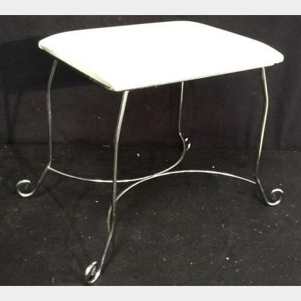 Super Contemporary Chrome White Faux Leather Bench Bench Stool Bralicious Painted Fabric Chair Ideas Braliciousco