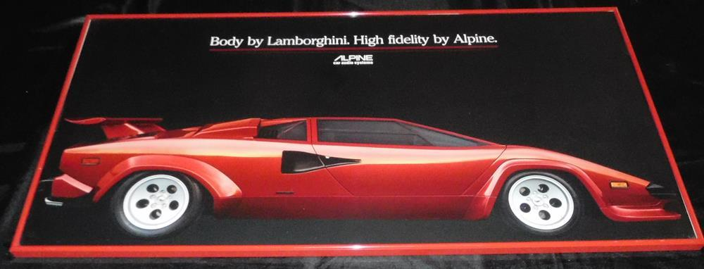 Vintage 1980 S Lot Of 2 Alpine Car Stereo Lamborghini Countach