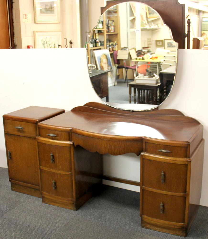 separation shoes 3ac67 2f84a A 1940's dressing table and bedside cabinet, W. 118cm.