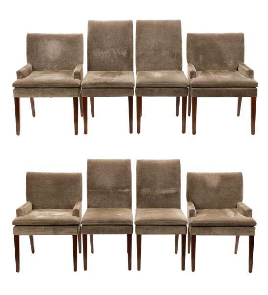 Set, 8 Holly Hunt Custom Upholstered Dining Chairs