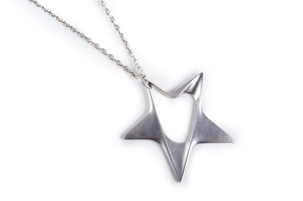Georg jensen silver star pendant necklace lofty marketplace georg jensen silver star pendant necklace mozeypictures Image collections