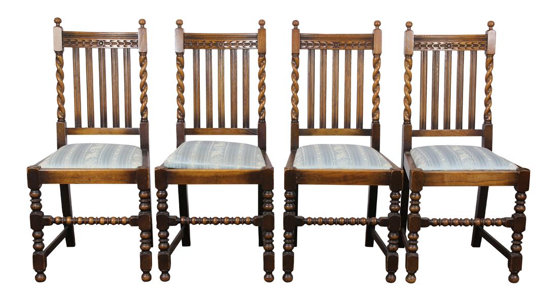 Late Victorian English oak sidechairs