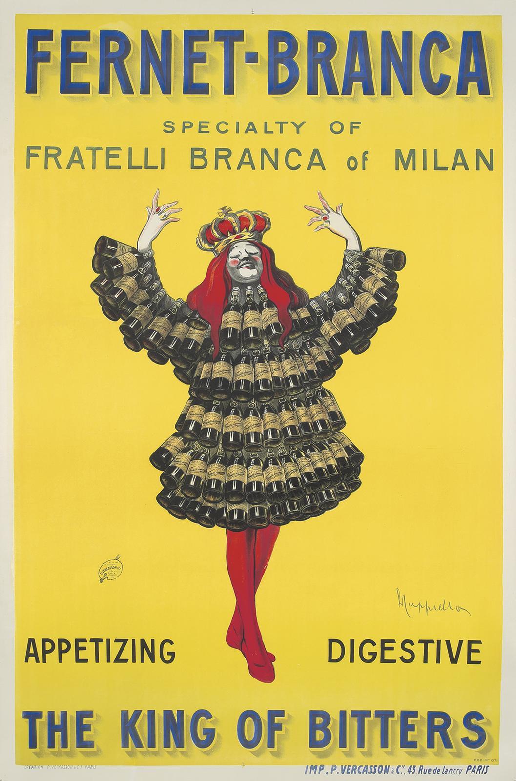Fernet-Branca / The King of Bitters  1909    Rennert's Gallery