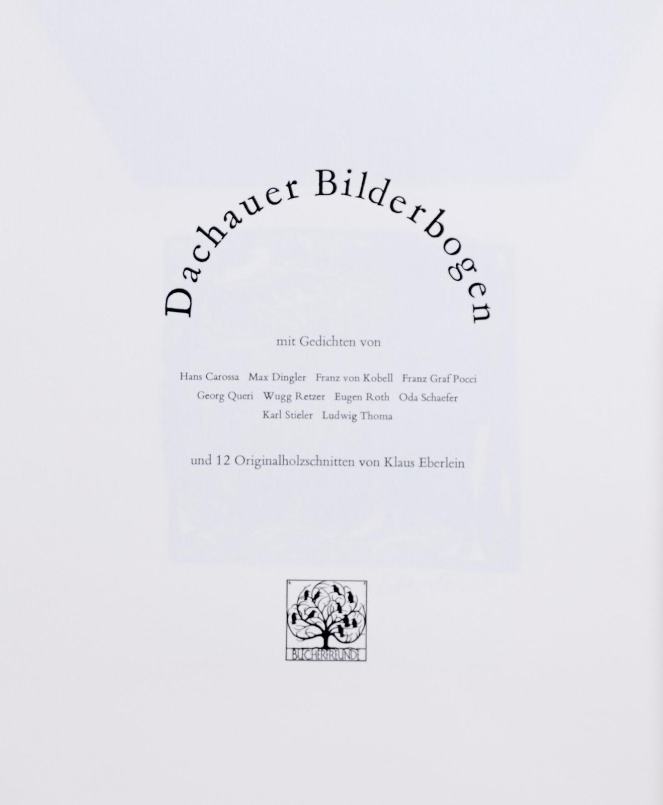 Dachauer Bilderbogenmit Gedichten Von Zisska Lacher