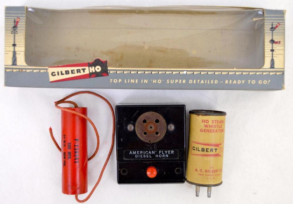 Gilbert HO steam whistle control with condenser in original box NICE