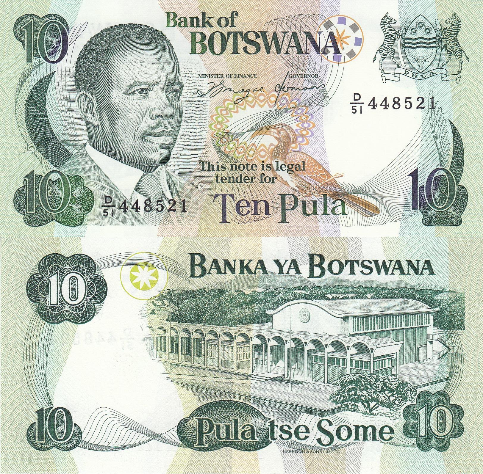 BOTSWANA Africa 10 Pula UNC 1992 p-12