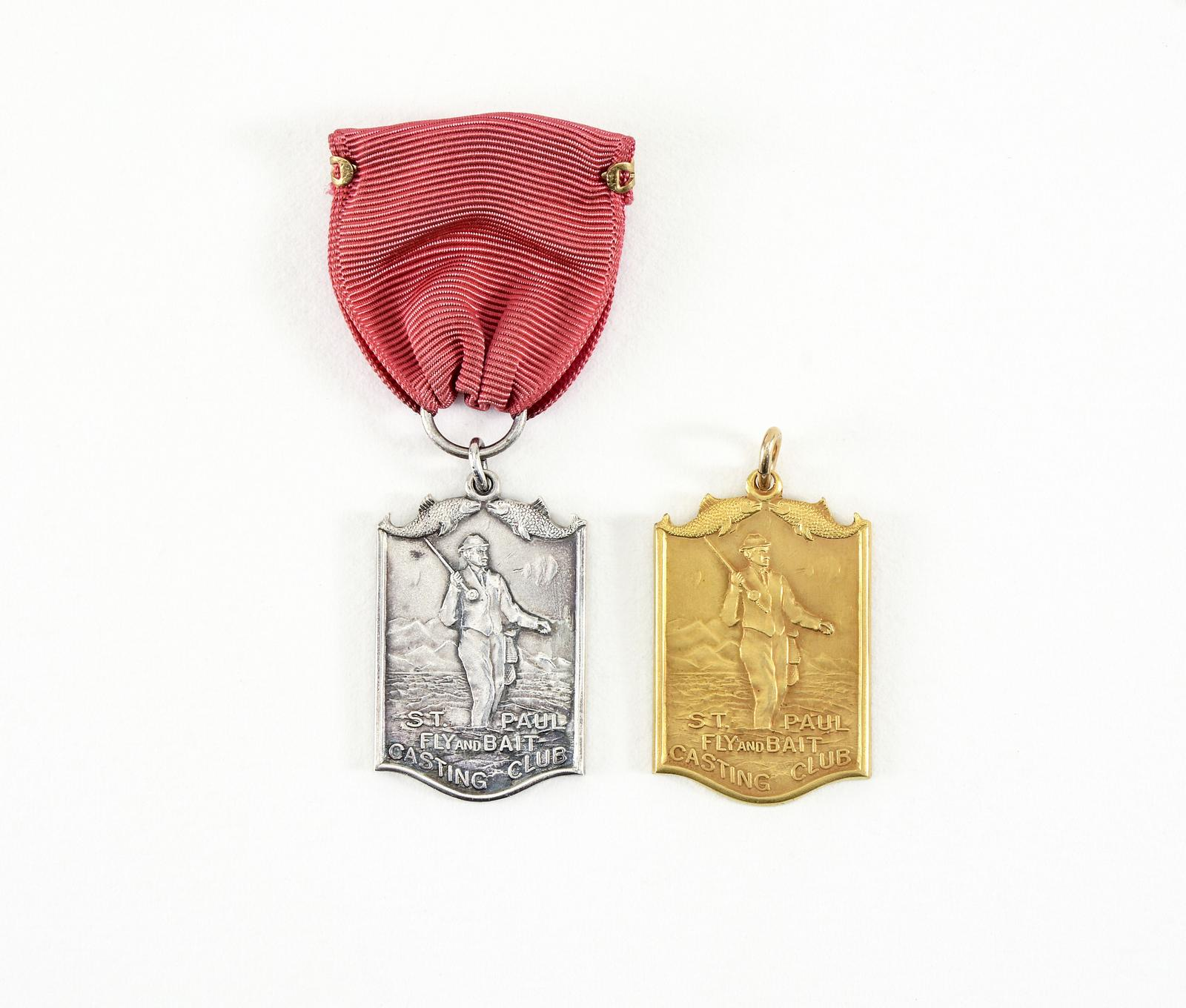 2 St  Paul Fly & Bait Casting Club Award Medals | Lang's Auction Inc
