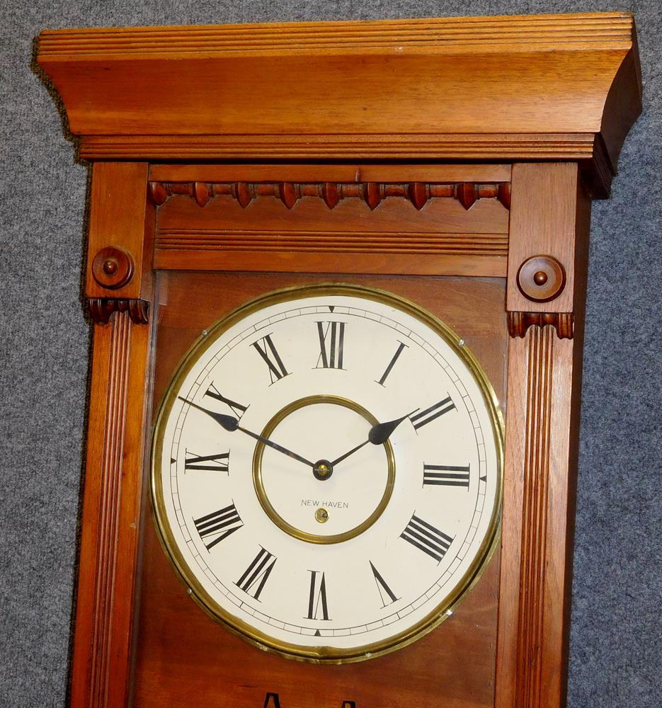 Antique c 1870 new haven single weight driven wall clock 51 tall antique c 1870 new haven single weight driven wall clock 51 tall amipublicfo Images