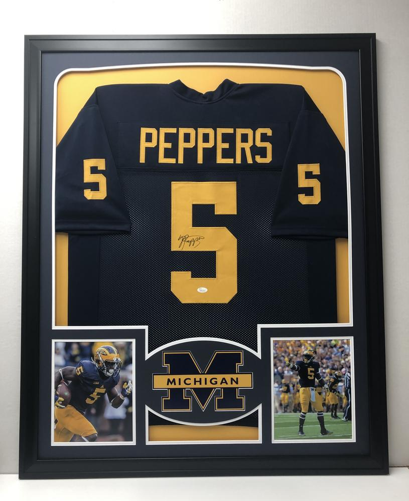 9b19a8889 Jabrill Peppers Michigan Wolverines Framed Signed Jersey - JSA Authent –  Lofty Marketplace
