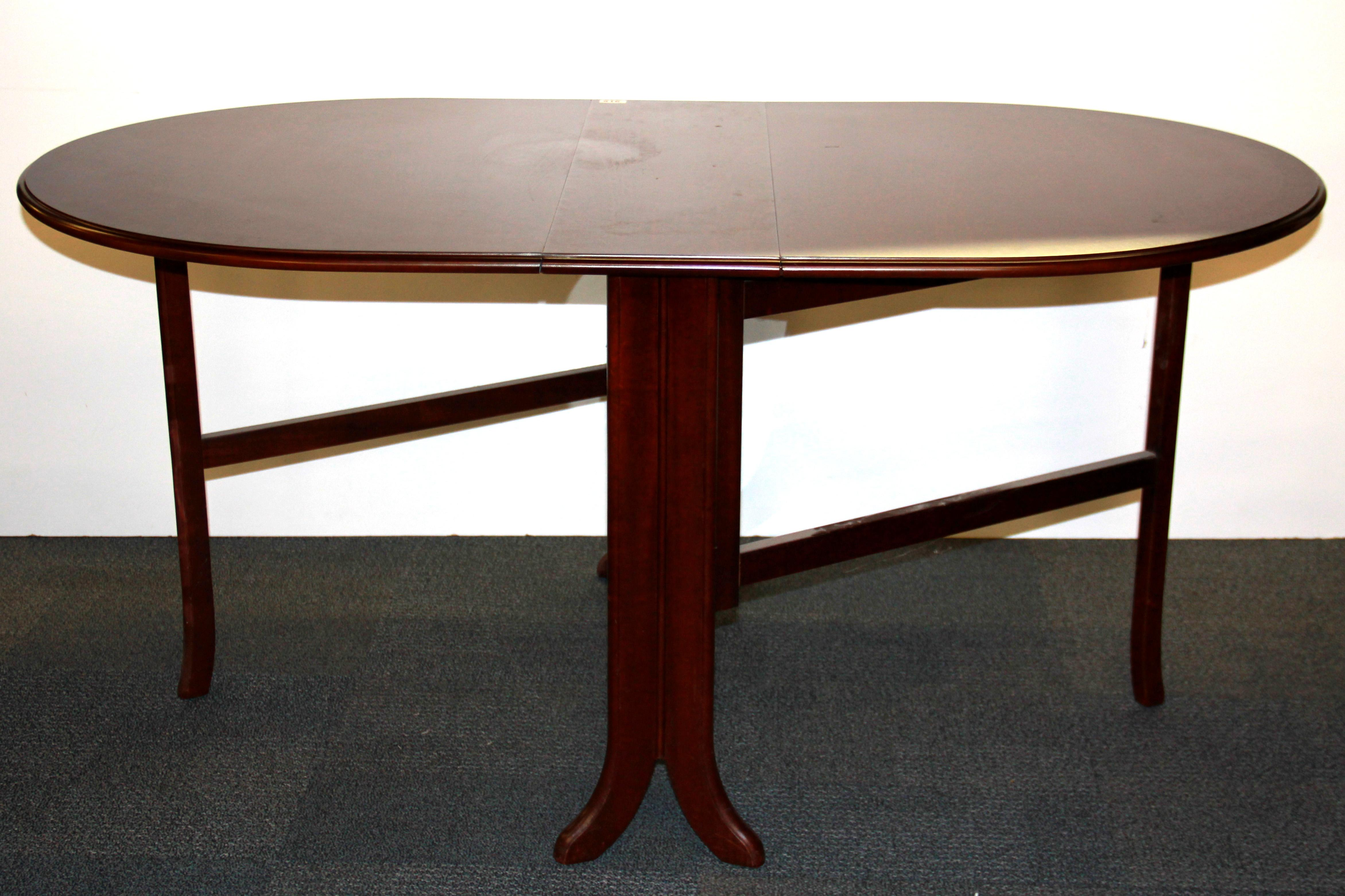 A 1970u0027s Mahogany Drop Leaf Dining Table, W. 92cm, Opens To 155cm.