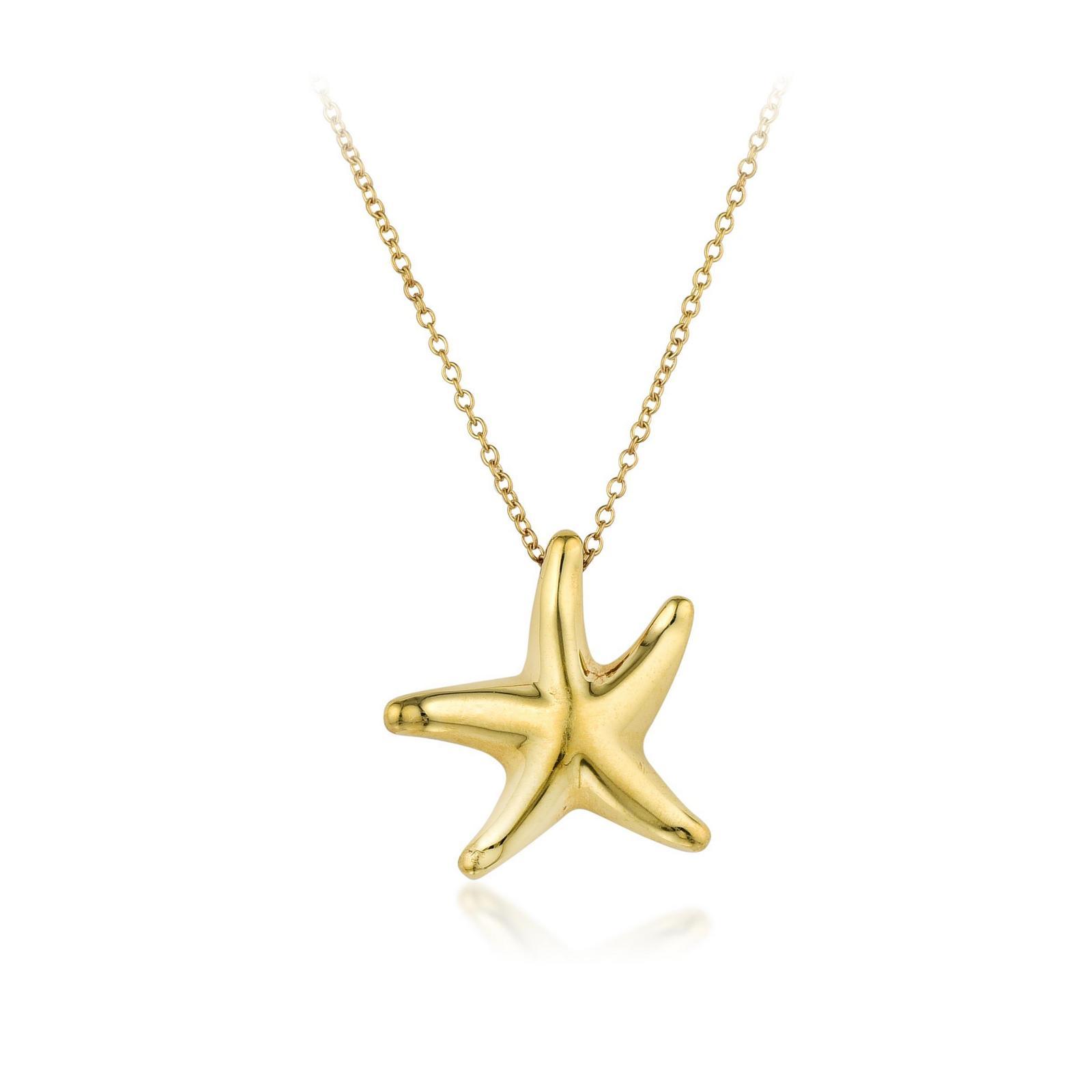 620e14819c128 Elsa Peretti Tiffany & Co. 18K Gold Starfish Pendant Necklace ...