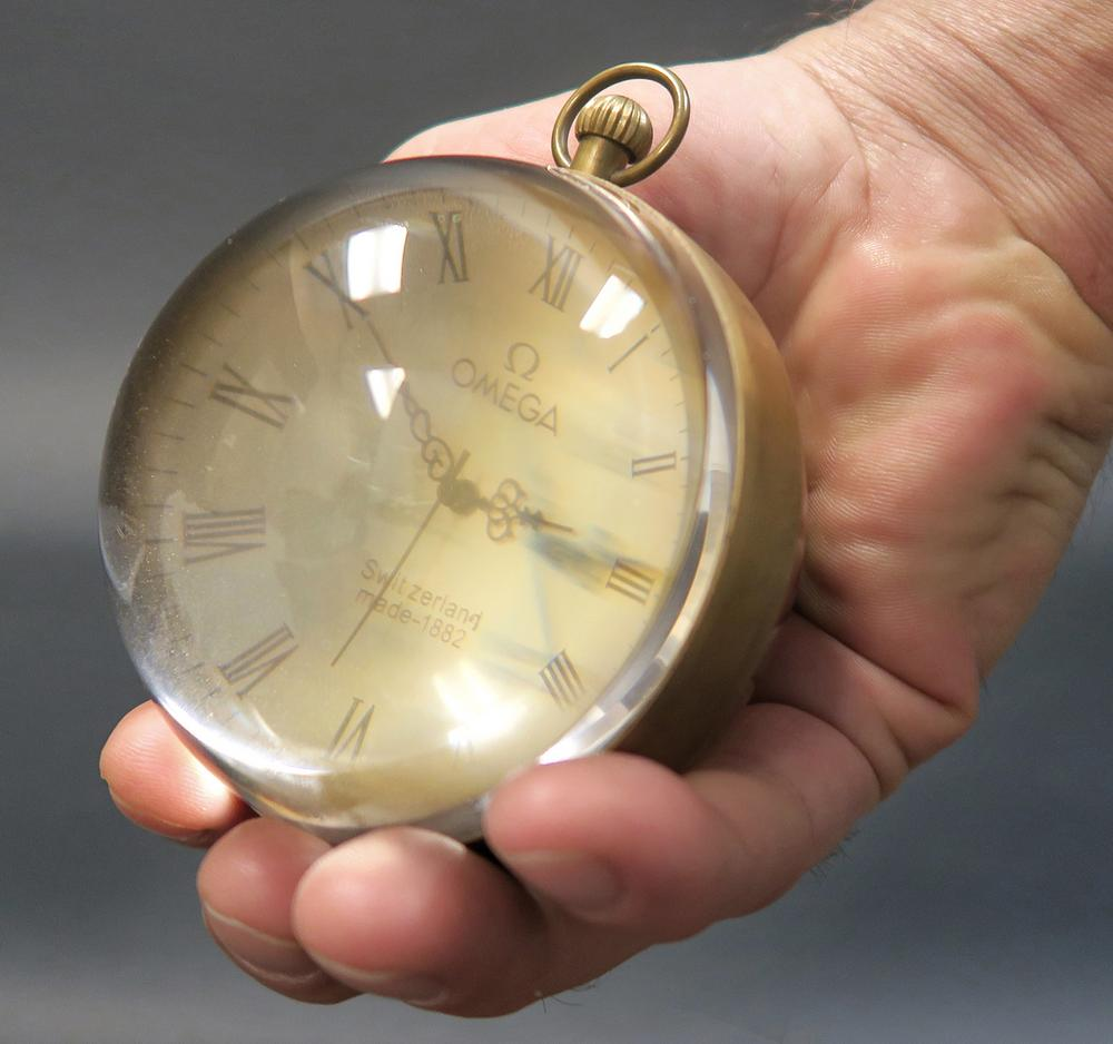 Omega Swiss Crystal Ball Pocket Watch 1882 - Image Of Blouse