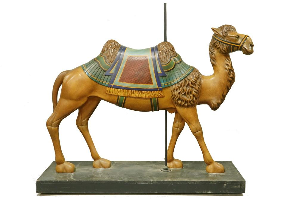 VERY RARE 19TH C  CAROUSEL CAMEL FIGURE BY M C  ILLIONS