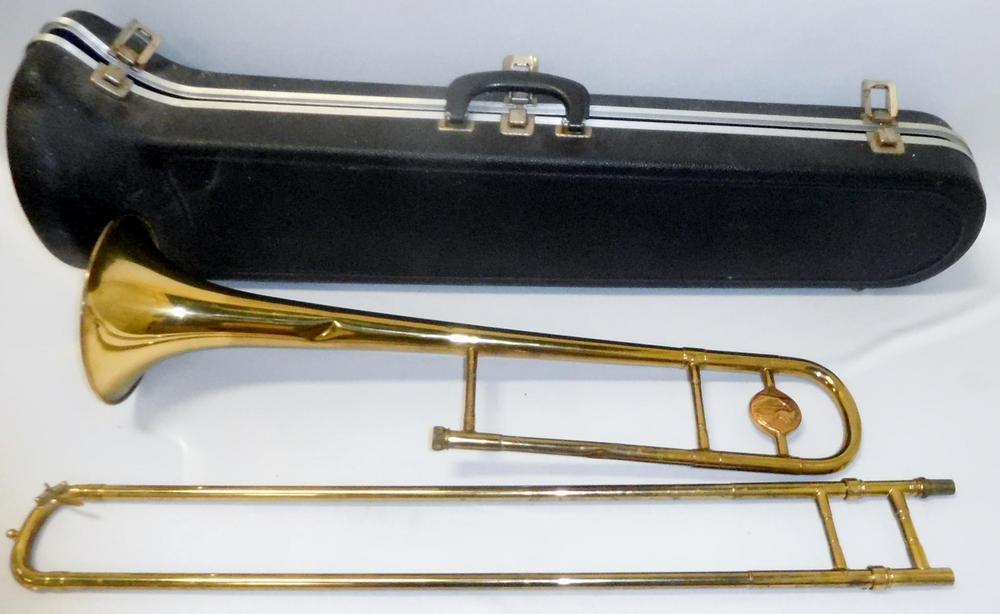 Vintage 1949 Conn Pan American Trombone w/ Hard Plastic Case