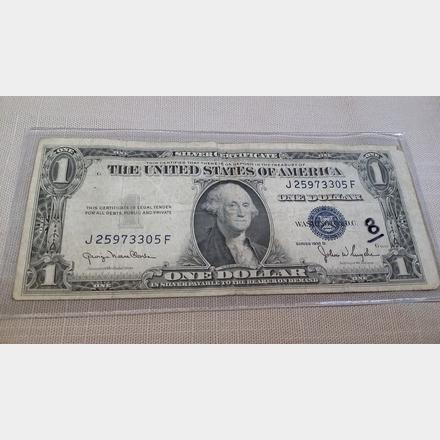 1935 D 1 Dollar Silver Certificate | Unique Vintique