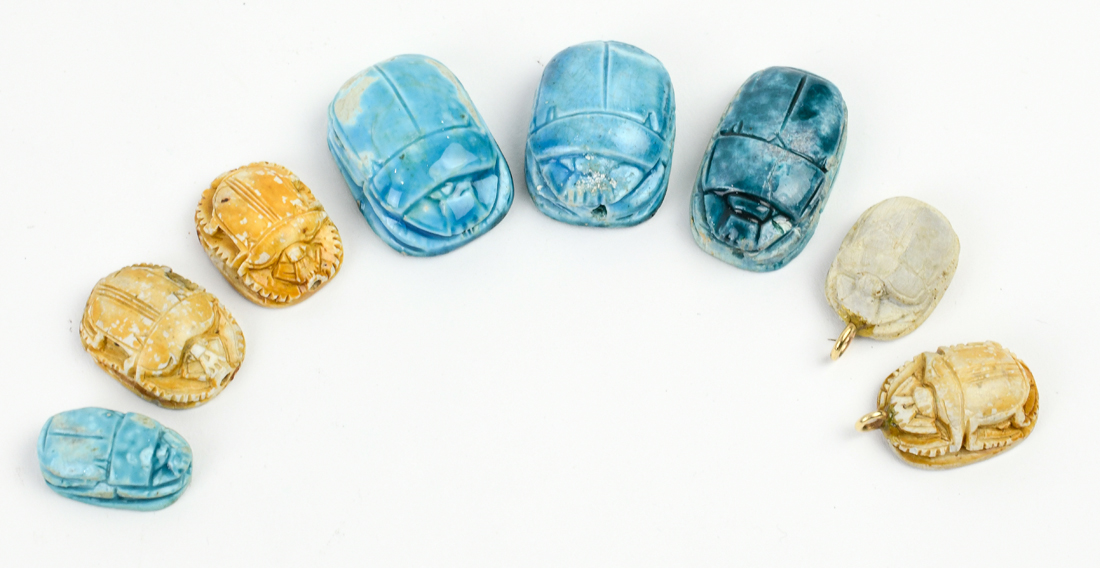 Collection of Egyptian scarabs