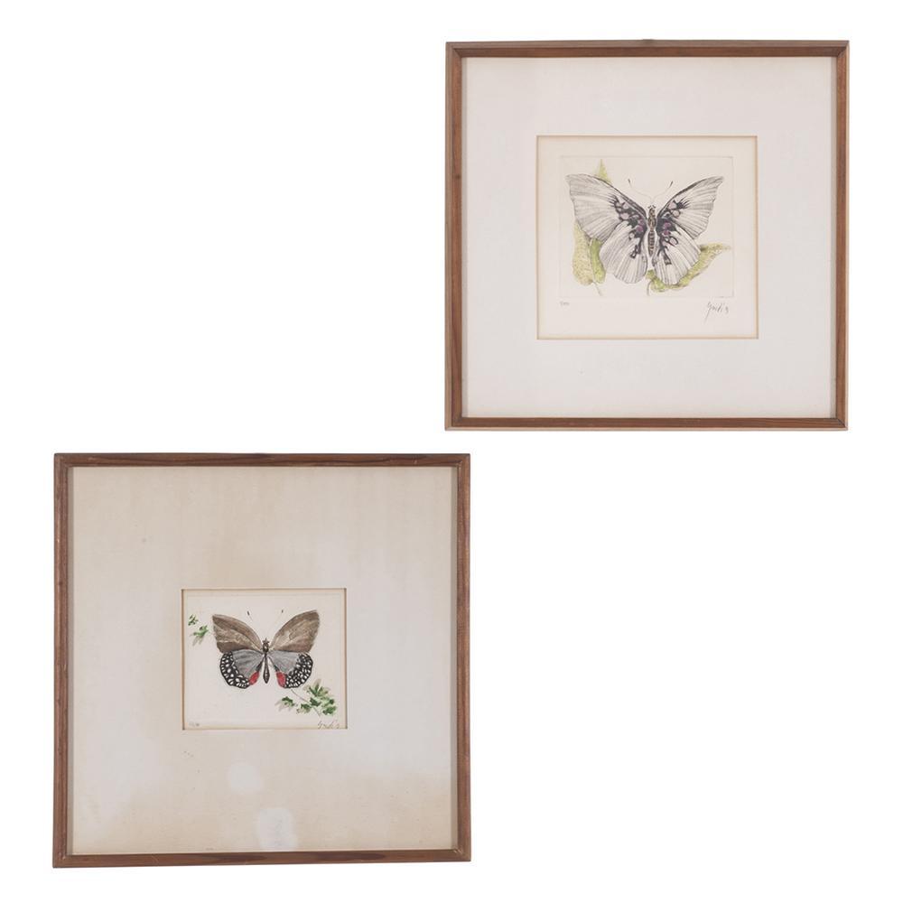 Vicente Gandía. Obras gráficas. Grabados. Mariposas. Series 1/40 y ...
