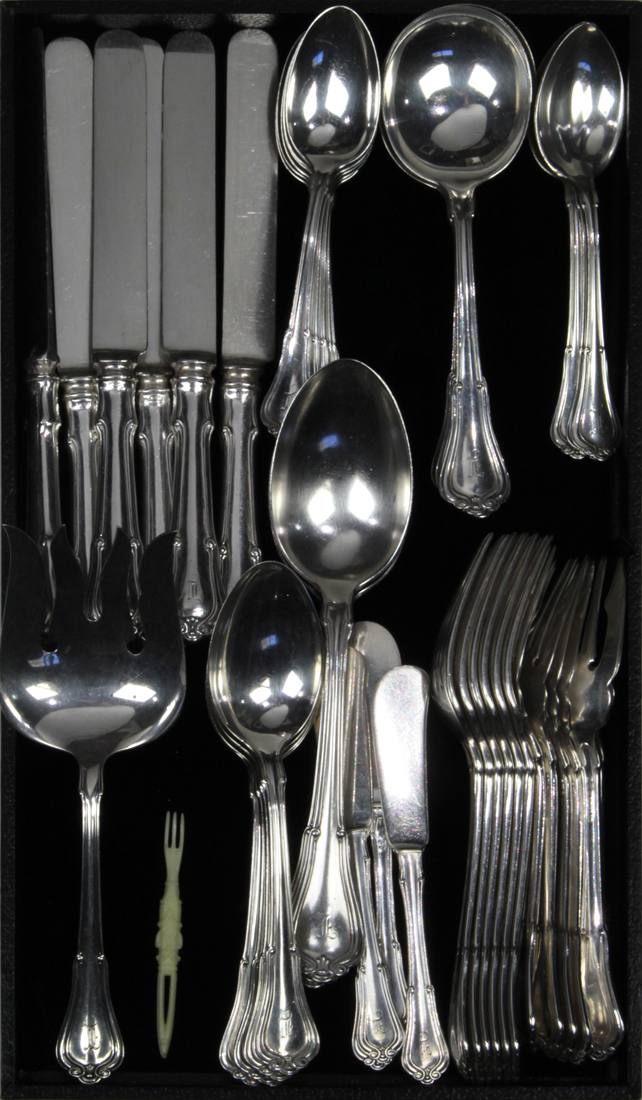 Gorham sterling silver flatware service for six in the