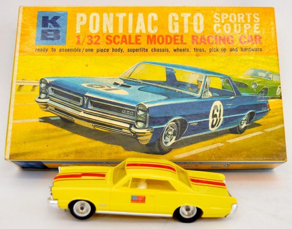 Built up K&B 1/32 Pontiac GTO slot car kit in OB 1826:600