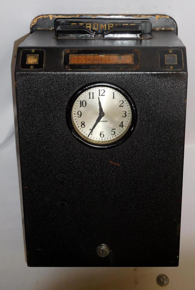 Vintage 1920's Stromberg Carlson Business Time Clock Model 9
