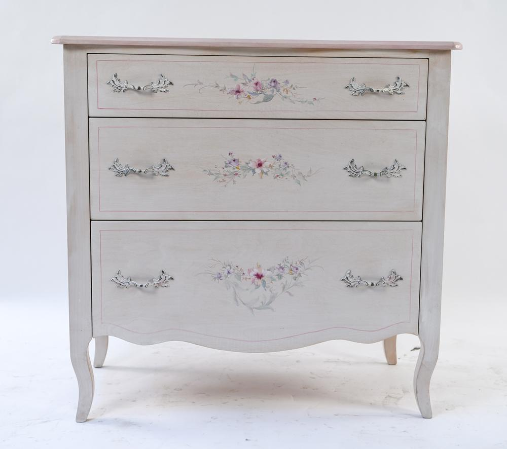 French Hand Painted Shabby Chic Dresser