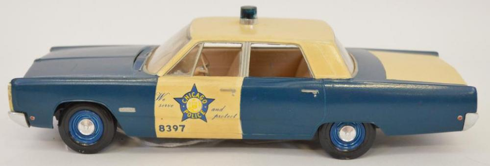 Built up Jo-Han Chicago Police Plymouth Fury 1/25 scale model kit