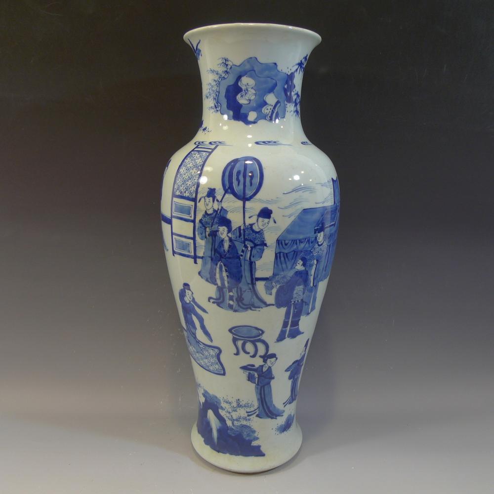 Antique chinese blue white porcelain vase kangxi mark 19th antique chinese blue white porcelain vase kangxi mark 19th century reviewsmspy
