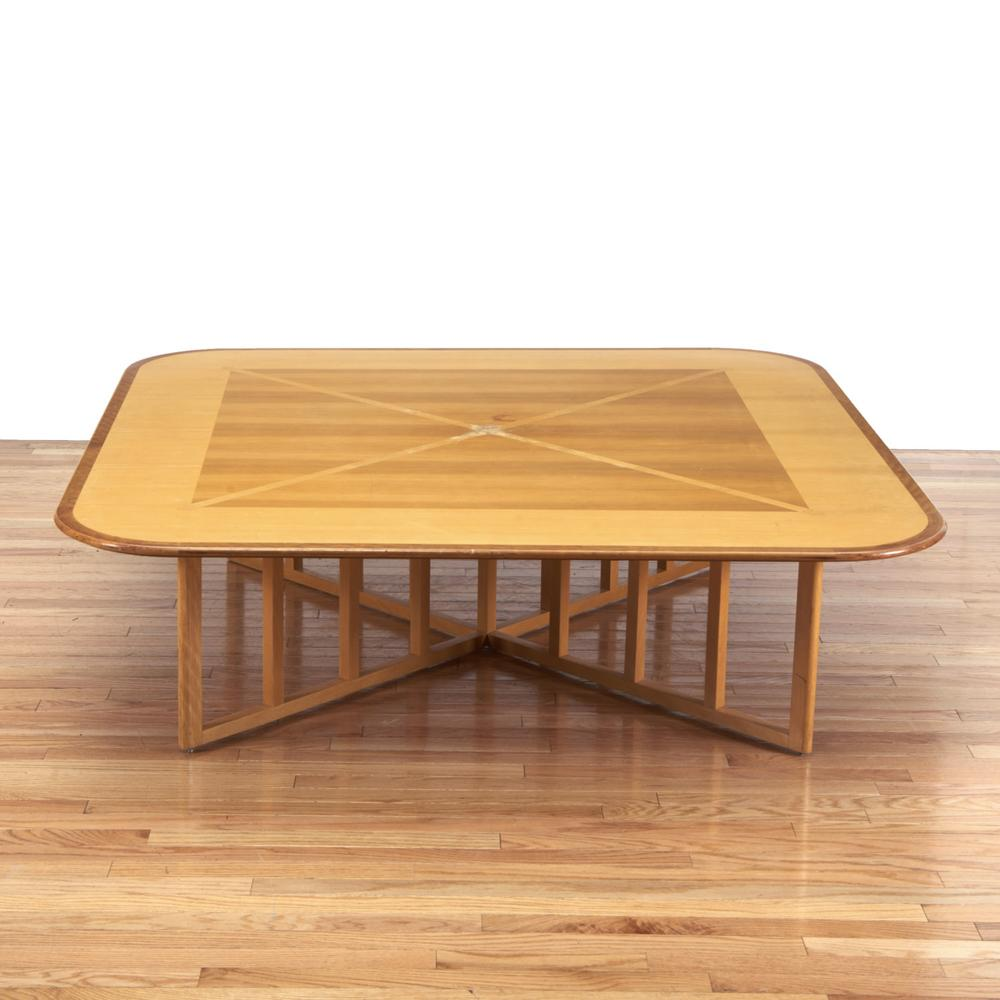 Modernist inlaid coffee table by gwathmey siegel lofty marketplace modernist inlaid coffee table by gwathmey siegel geotapseo Choice Image