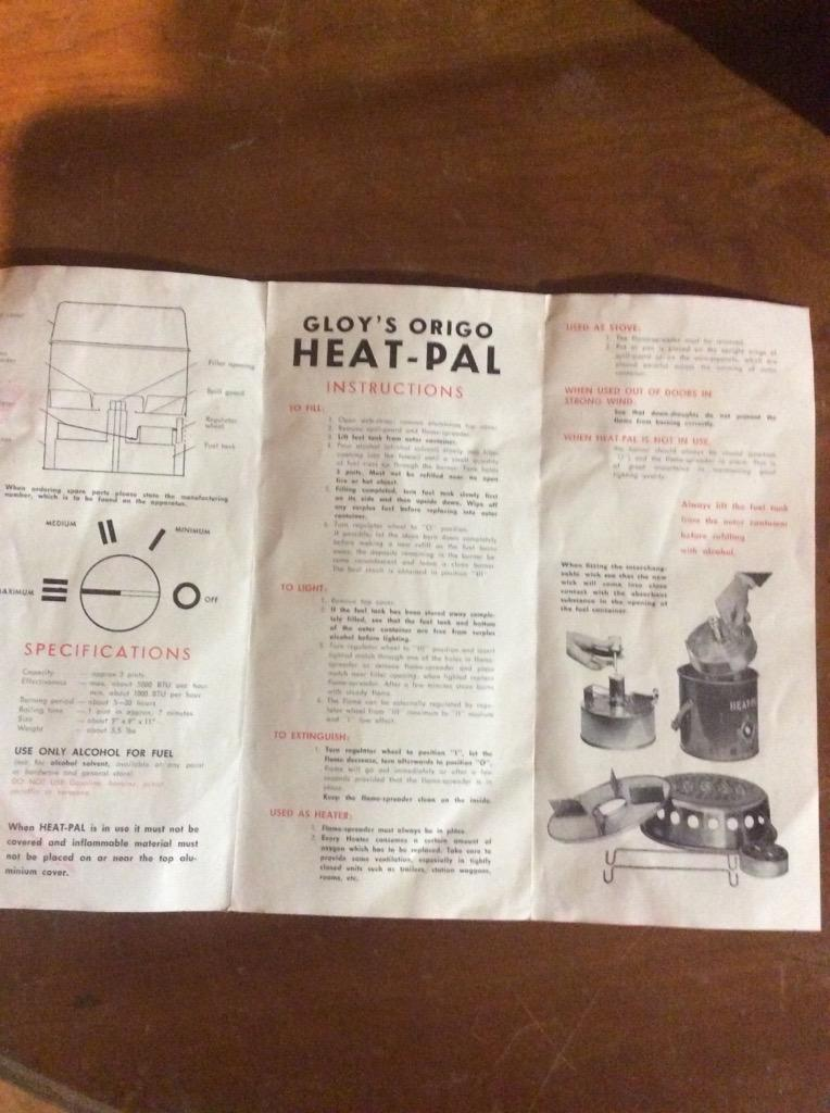 Gloy's Heat Pal 5000 heater stove  New in the box with